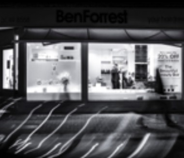 Ben Forrest Shop at night